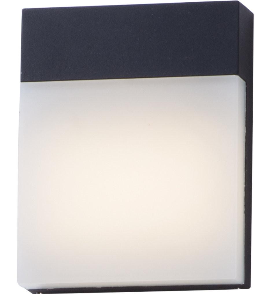 Maxim Lighting - 86165BK - Eyebrow Black 7.75 Inch 1 Light Outdoor Wall Mount