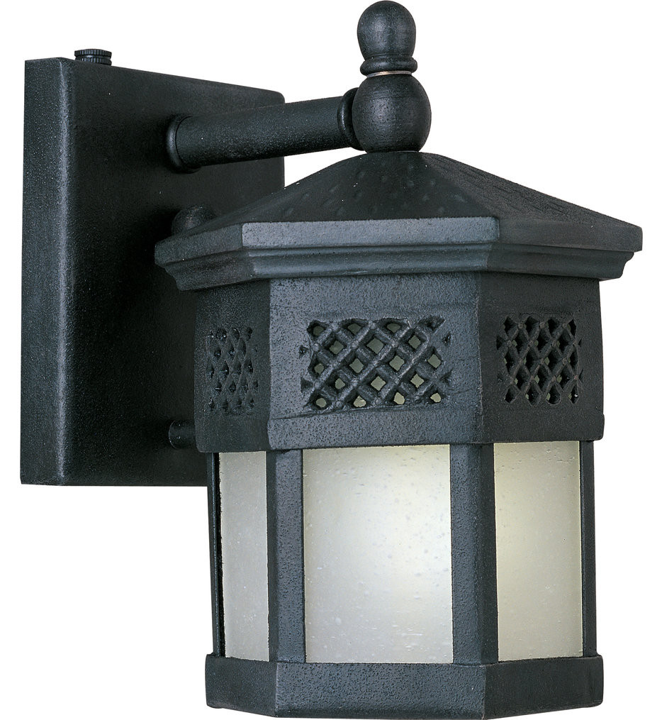 Maxim Lighting - 86322FSCF - Scottsdale Country Forge 8.5 Inch Fluorescent Outdoor Wall Mount