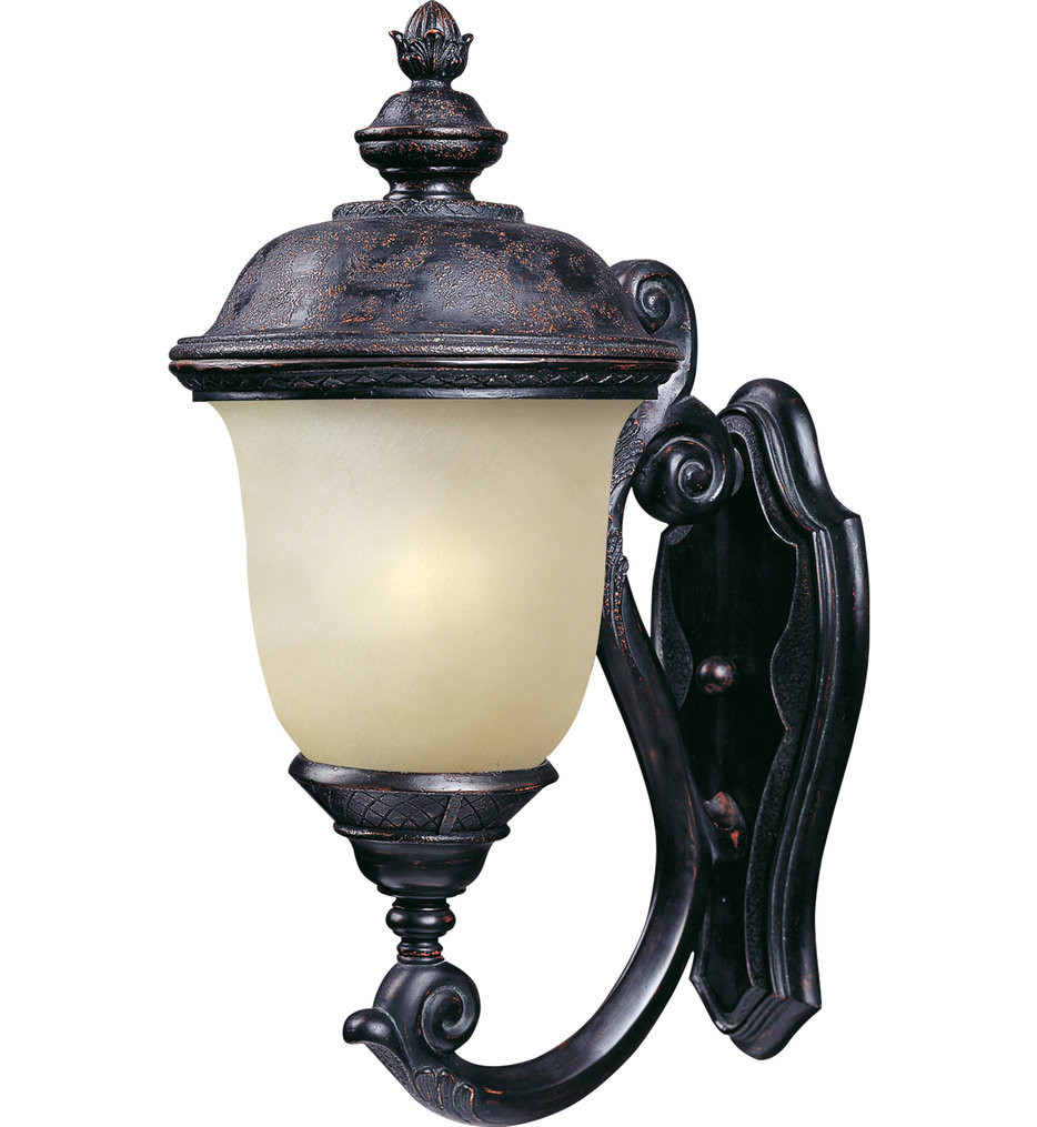 Maxim Lighting - 86523MOOB - Carriage House Oriental Bronze 20 Inch 1 Light Fluorescent Outdoor Wall Mount