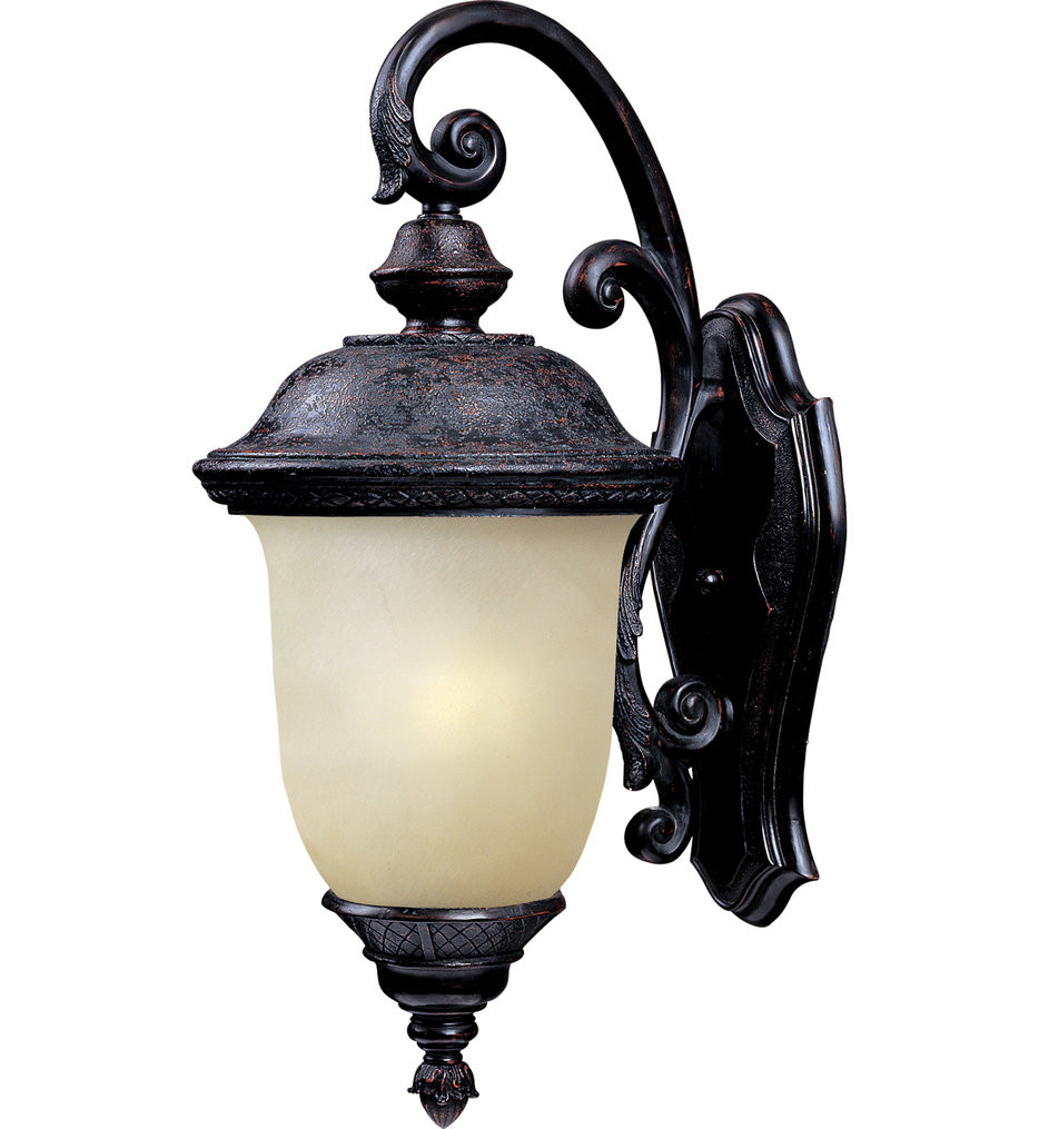 Maxim Lighting - 86596MOOB - Carriage House Oriental Bronze 20 Inch 1 Light Fluorescent Outdoor Wall Mount