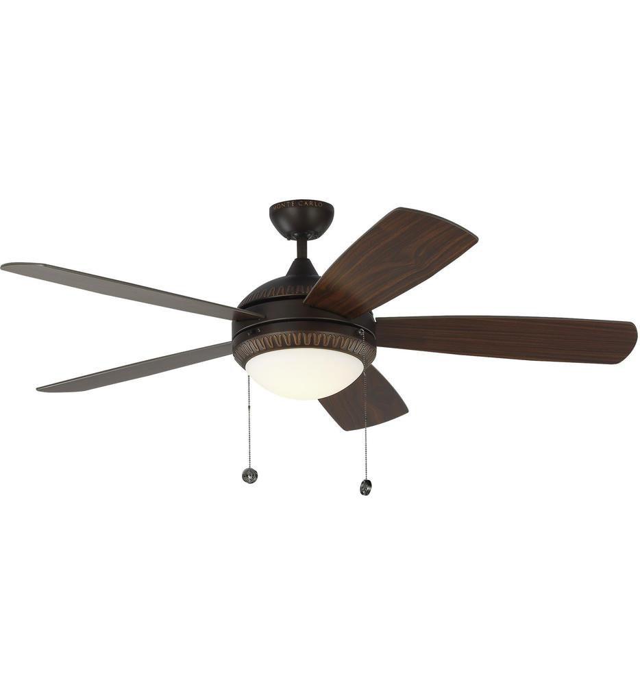 Monte Carlo - Discus Ornate 52 Inch Ceiling Fan