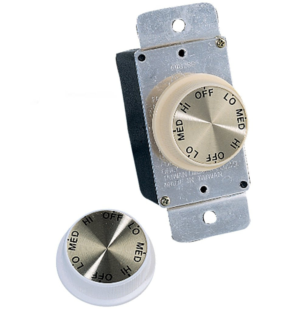 Monte Carlo - ESWC-1 - Ivory & White 3-Speed Rotary Wall Control