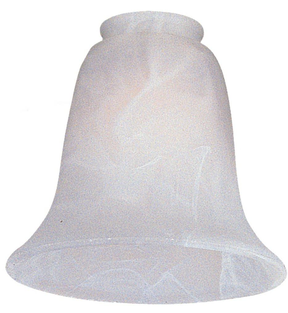 Monte Carlo - G990 - White Faux Alabaster Fan Glass