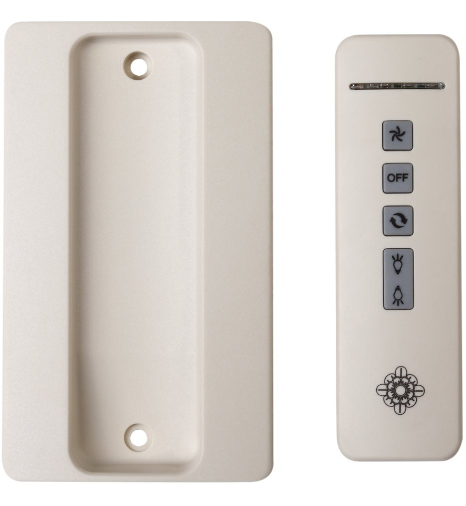 Monte Carlo - White 4-Speed Hand Held Remote Transmitter Only with Reverse & Up-Down Light Control