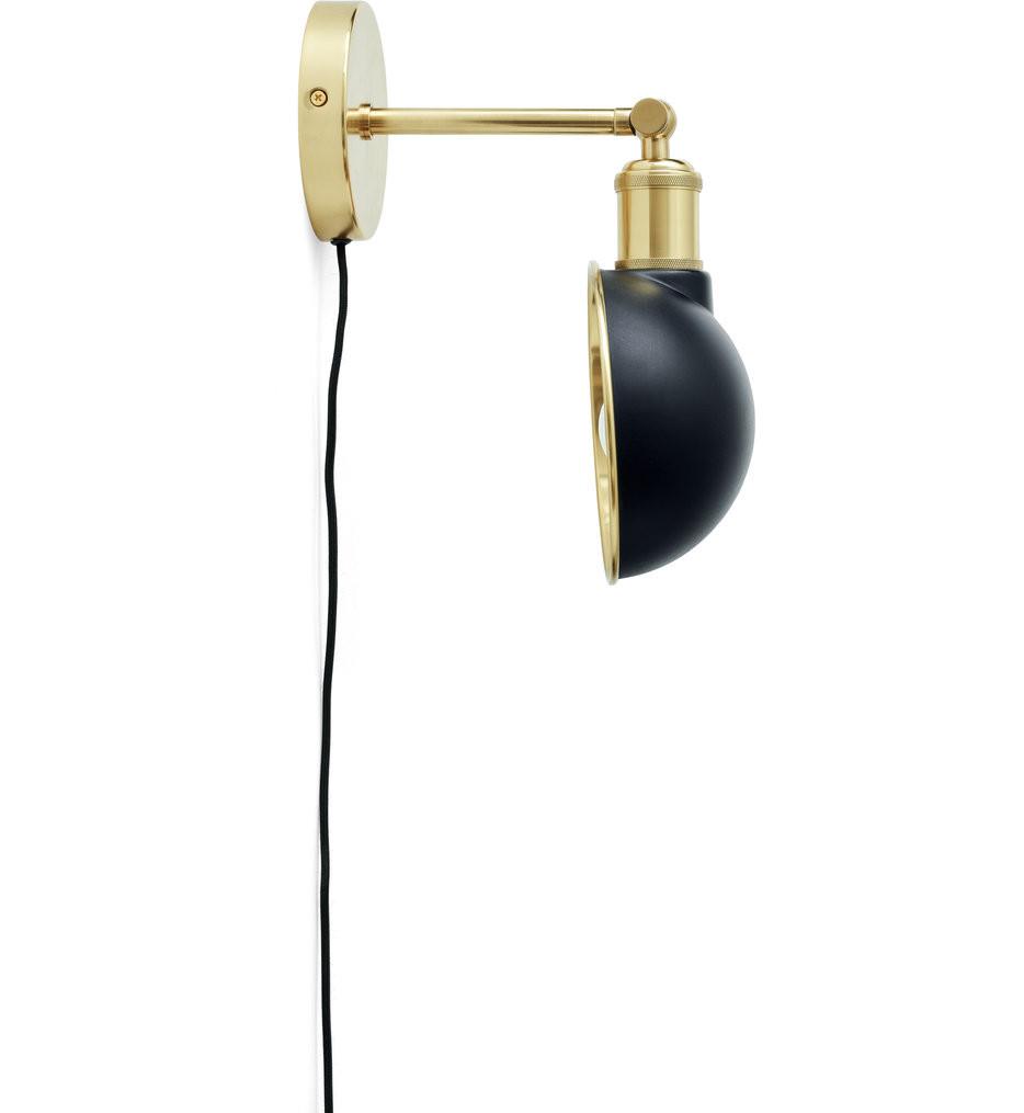 MENU - 1945539 - Walker Black/Brass Wall Sconce