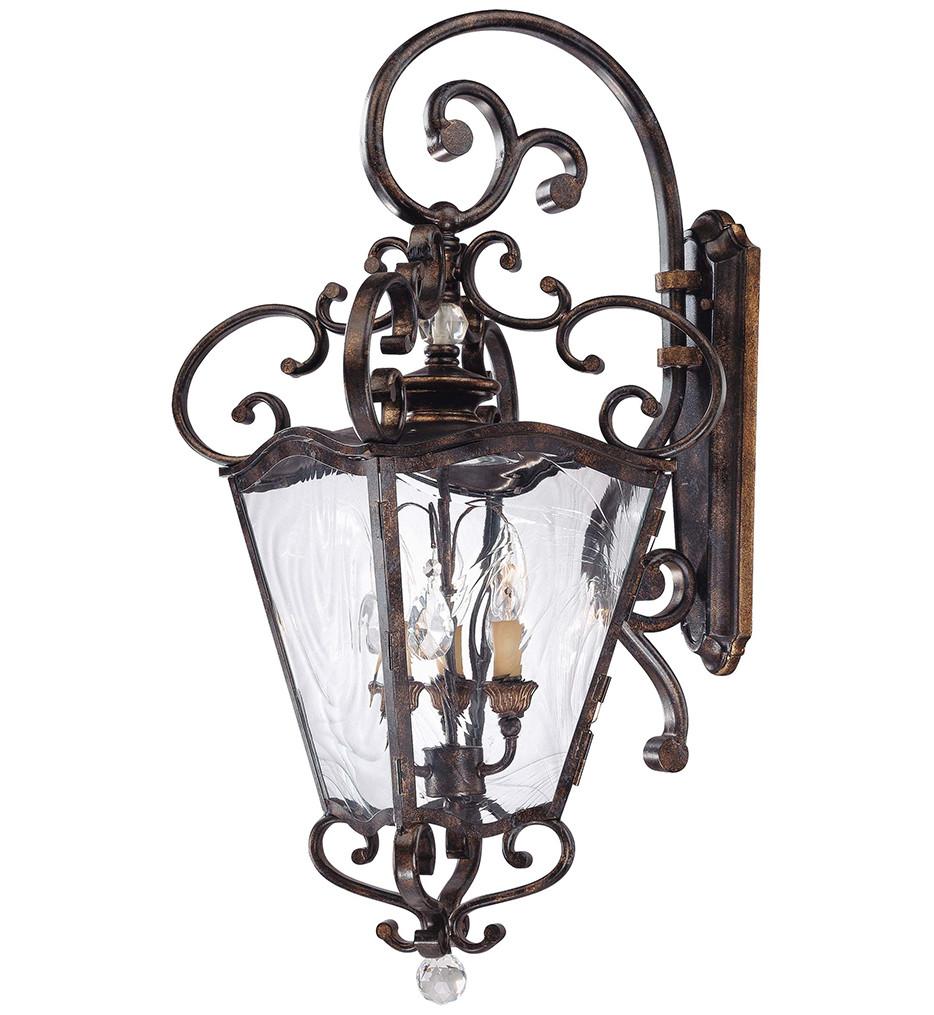 Metropolitan Lighting - N3247-270 - 3 Light Terraza Villa Aged Patina Outdoor Wall Light