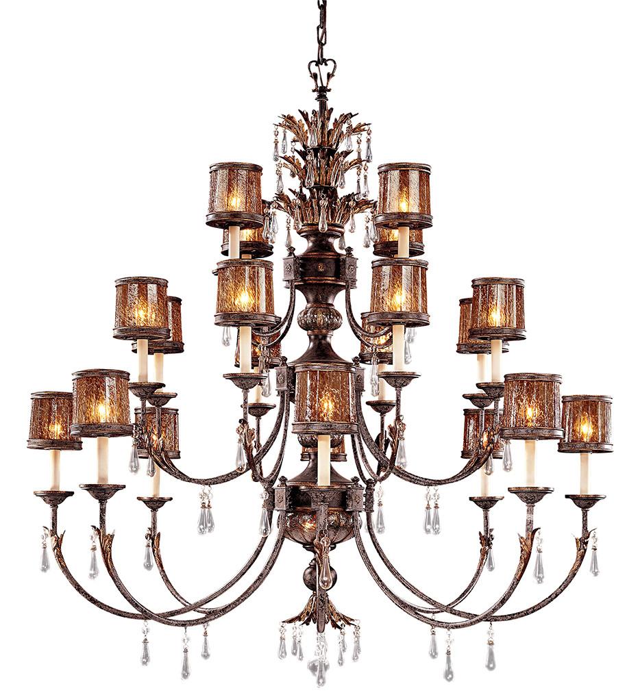 Metropolitan Lighting - N6069-194 - Sanguesa 22 Light Patina Chandelier
