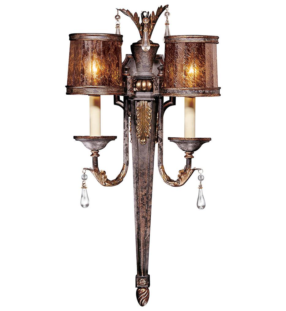 Metropolitan Lighting - N6082-194 - Sanguesa 2 Light 29.5 Inch High Patina Wall Sconce