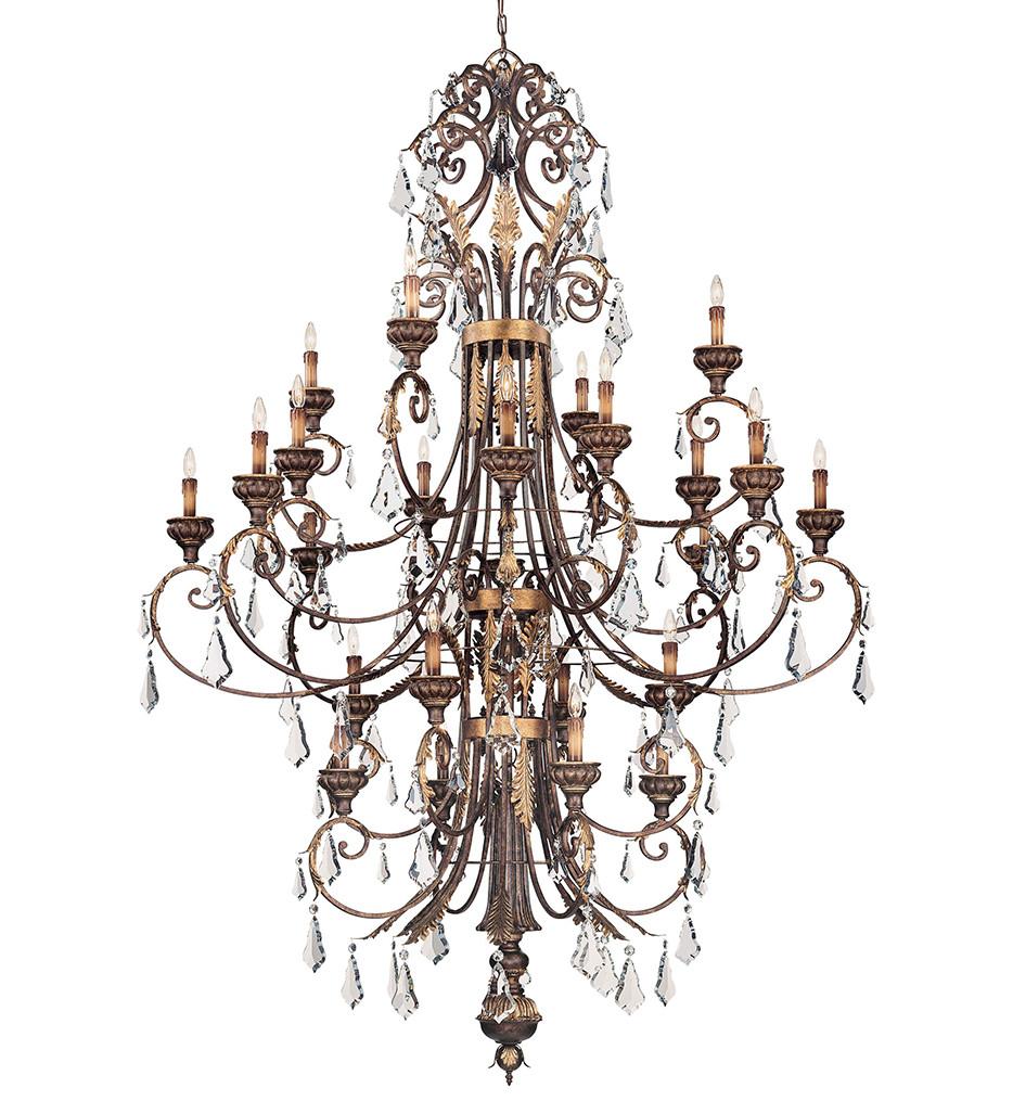Metropolitan Lighting - N6228-228 - 24 Light Windsor Rust with Bronze Accents Chandelier