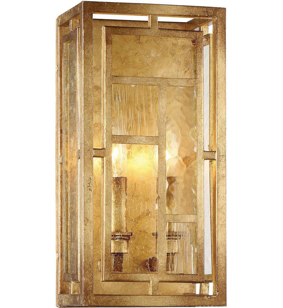 Metropolitan Lighting - N6472-293 - Edgemont Park Pandora Gold Leaf 2 Light Wall Sconce