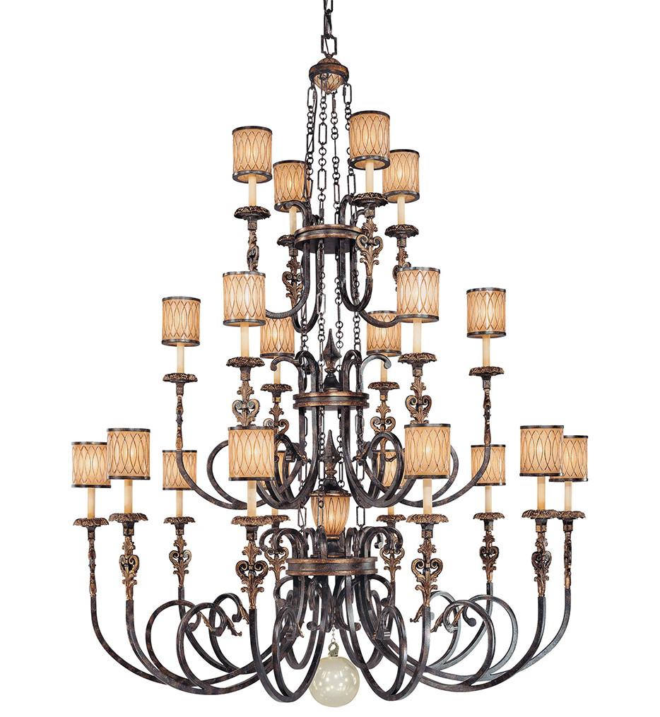 Metropolitan Lighting - N6487-270 - Terraza Villa 17 Light Aged Patina Chandelier