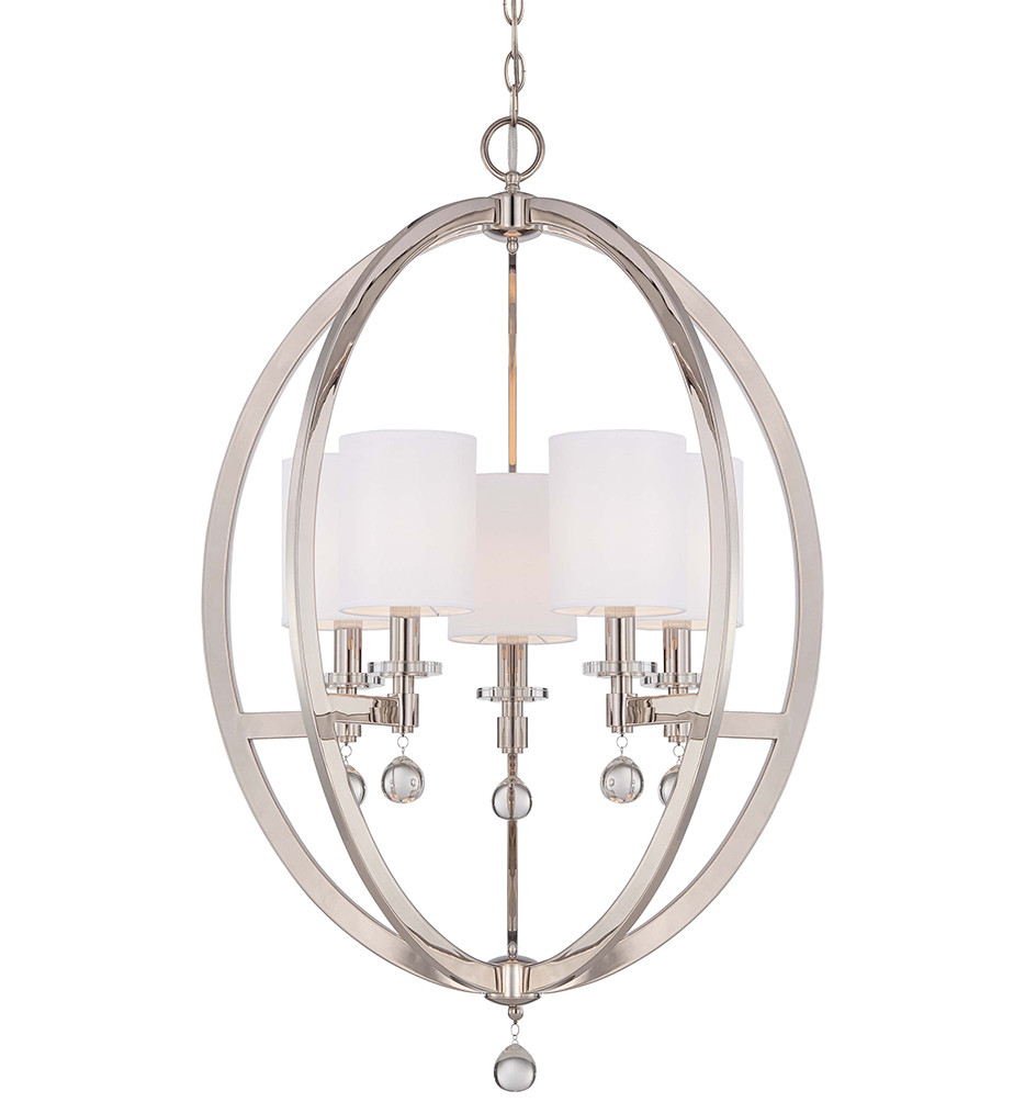 Metropolitan Lighting - N6842-613 - Chadbourne 5 Light Polished Nickel Chandelier