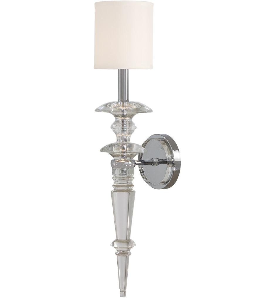 Metropolitan Lighting - N6930-1-77 - Kingswell Chrome 1 Light Wall Sconce