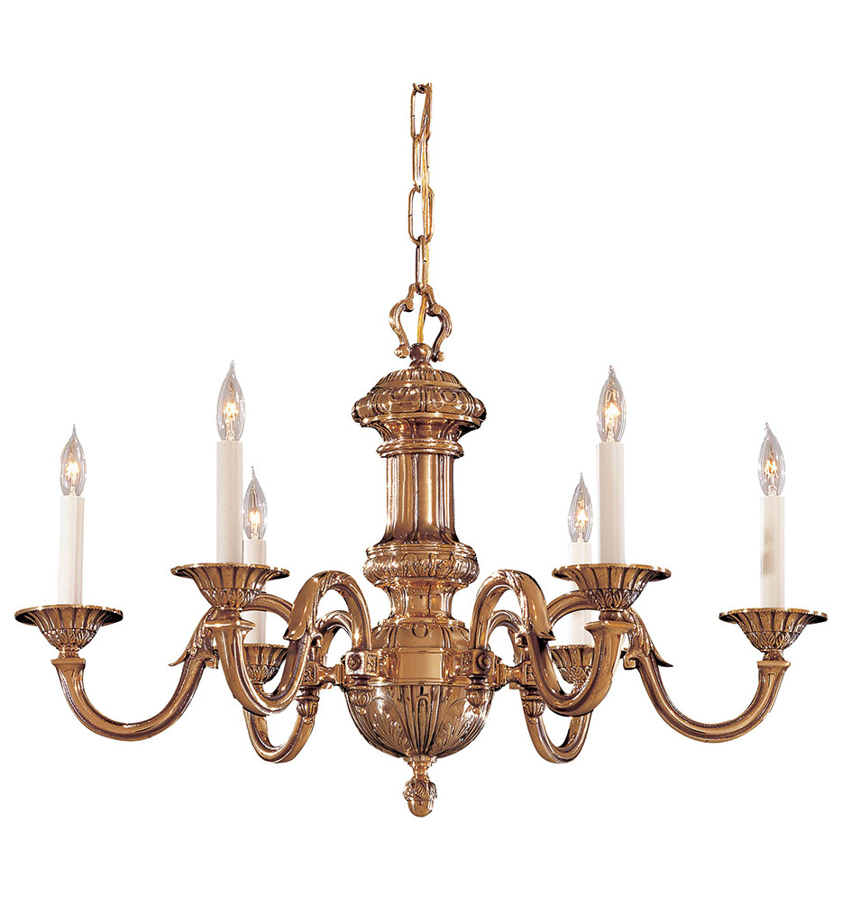 Metropolitan Lighting - N700206 - 6 Light Classic Brass Chandelier