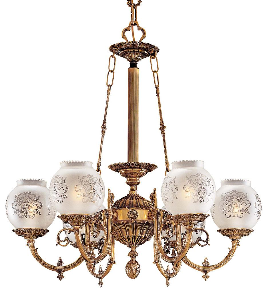 Metropolitan Lighting - N801906 - 6 Light Antique Classic Brass Chandelier