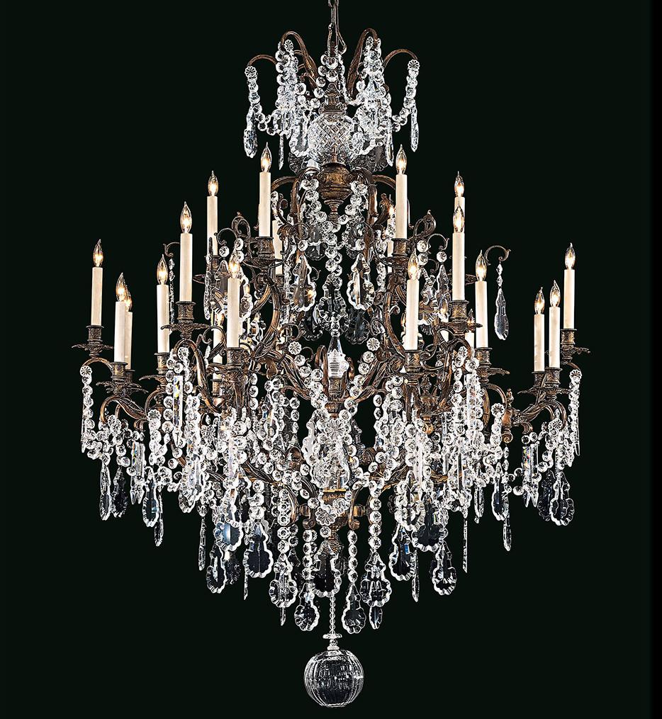 Metropolitan Lighting - N950040 - Vintage/Crystal 24 Light Oxidized Brass Chandelier