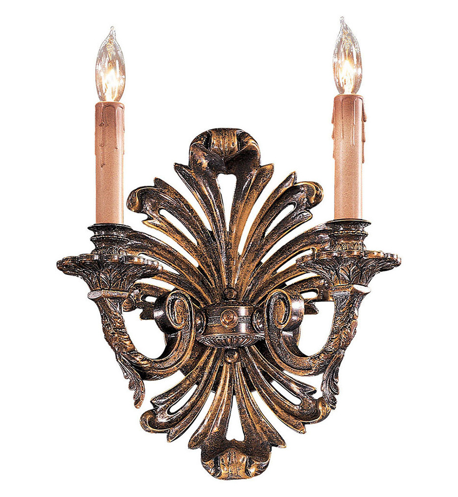 Metropolitan Lighting - N952010 - 2 Light 24 Inch High Oxide Brass Wall Sconce