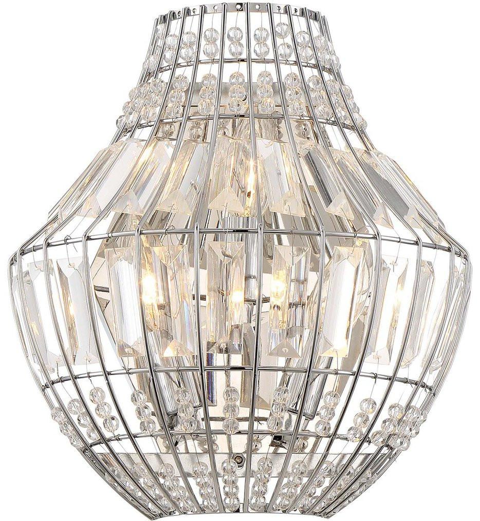 Minka-Lavery - 2340-77 - Braiden Chrome 3 Light Wall Sconce
