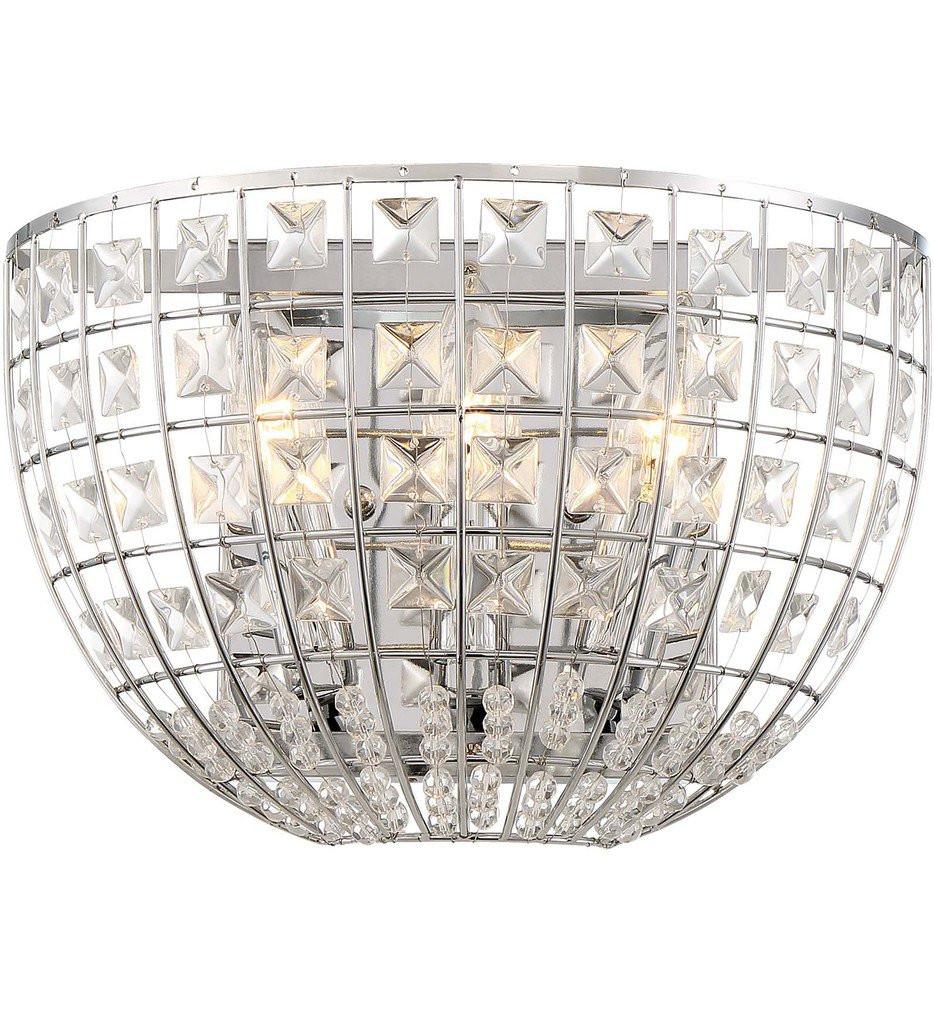 Minka-Lavery - 2370-77 - Palermo Chrome 8 Inch 3 Light Wall Sconce