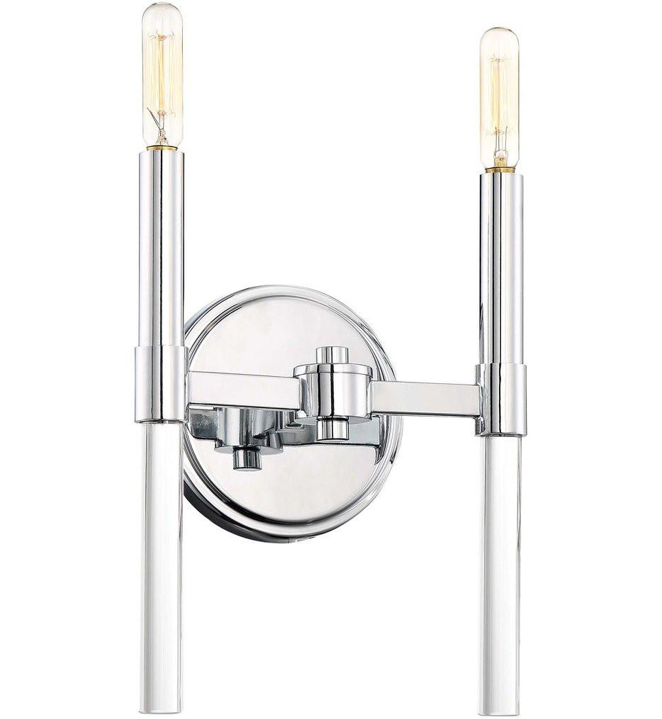 Minka-Lavery - 3092-77 - Pillar Chrome 2 Light Wall Sconce