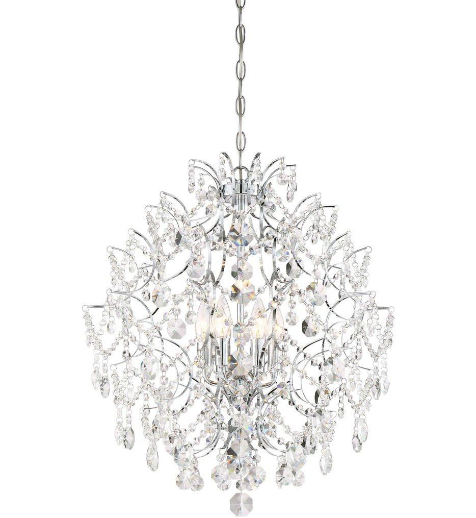 Minka-Lavery - 3157-77 - Isabella's Crown Chrome 6 Light Chandelier