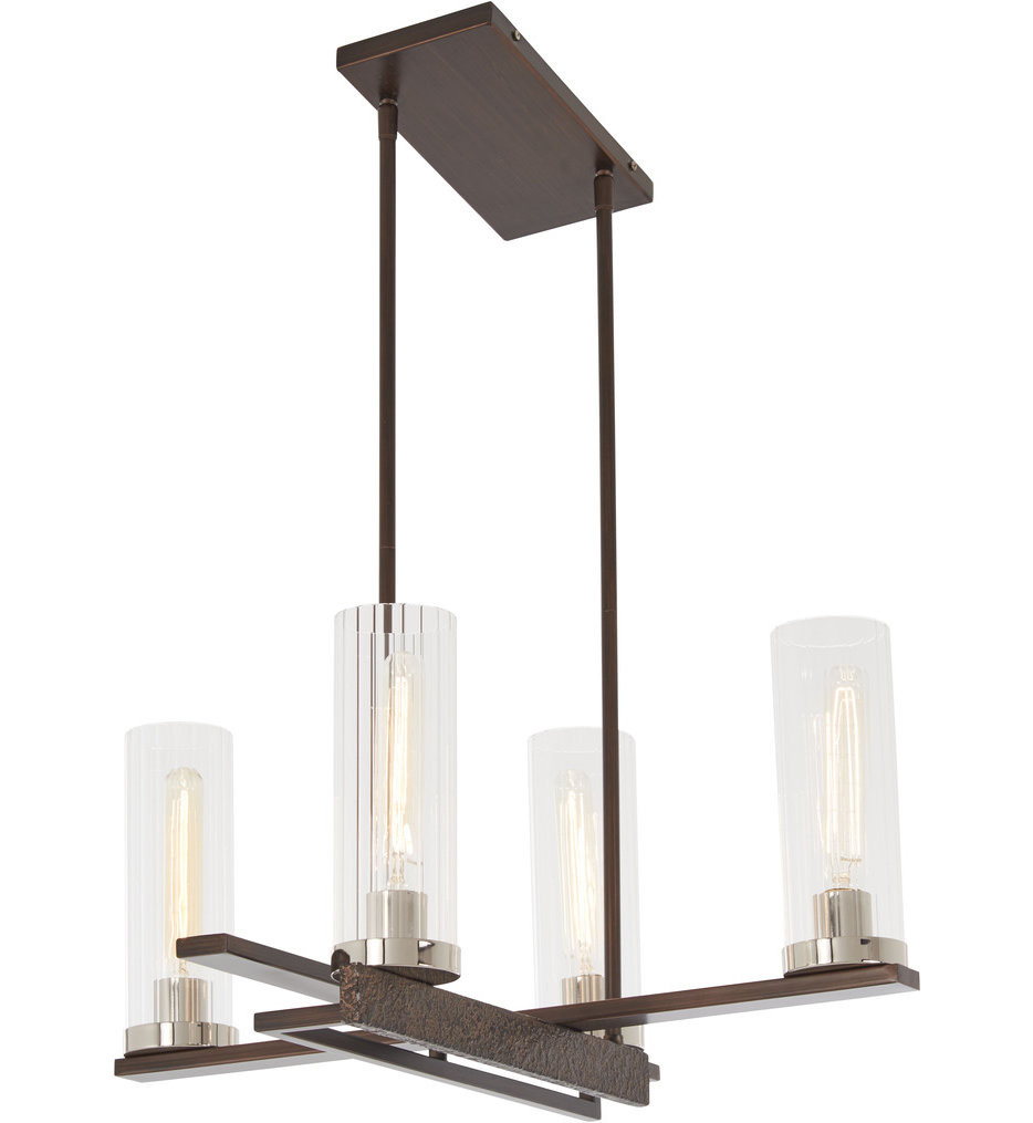 Minka-Lavery - 4607-101 - Maddox Roe Iron Ore with Gold Dust Highlights 4 Light Chandelier