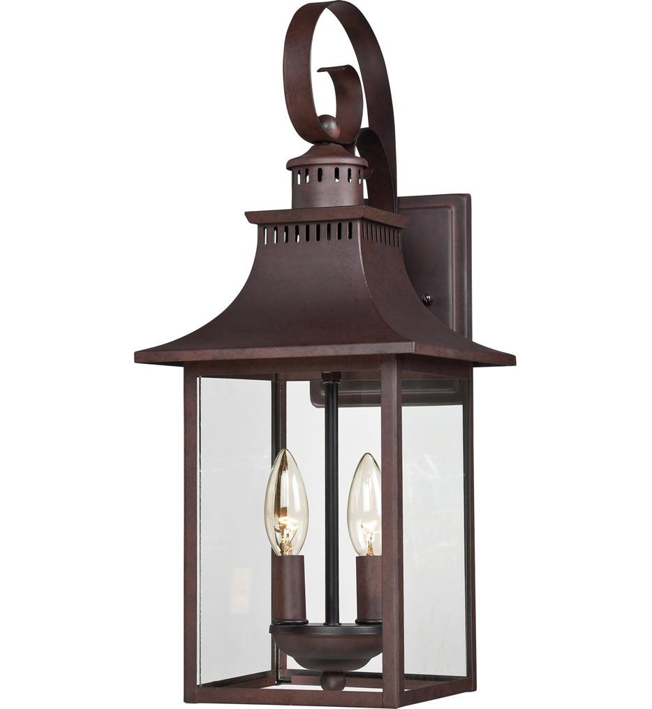 Quoizel - CCR8408CU - Chancellor Copper Bronze 8 Inch Outdoor Wall Lantern