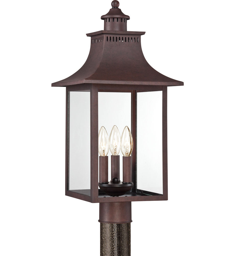 Quoizel - CCR9010CU - Chancellor Copper Bronze 10 Inch Outdoor Post Light