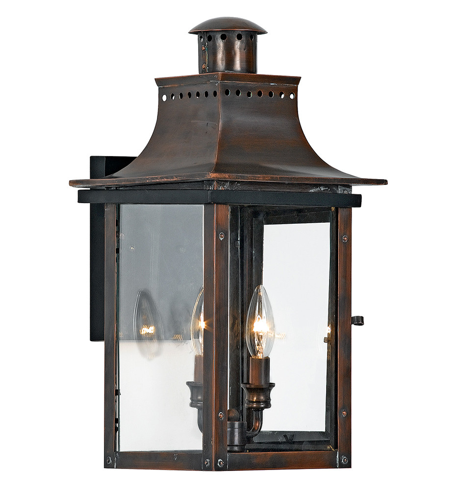 Quoizel - CM8410AC - Chalmers Aged Copper 2 Light Outdoor Wall Lantern