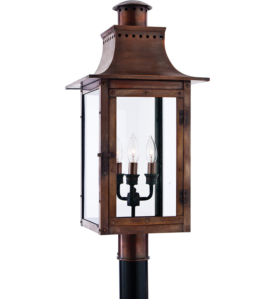 Quoizel - CM9012AC - Chalmers Aged Copper Outdoor Post Light