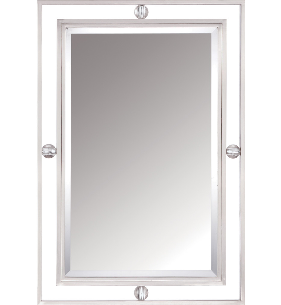 Quoizel - DW43222BN - Downtown Brushed Nickel 22 Inch Mirror