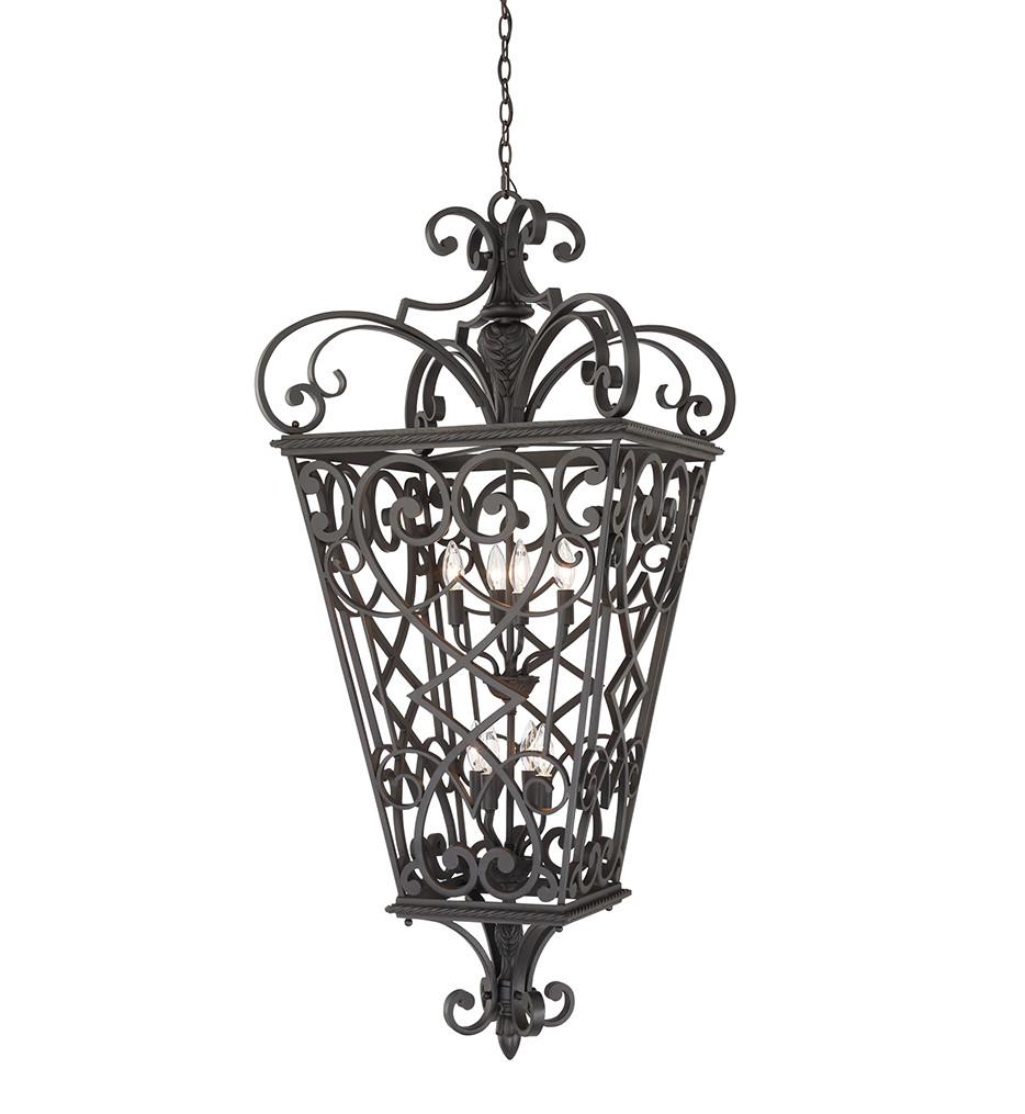 Quoizel - FQ1931MK01 - Fort Quinn Marcado Black Outdoor Hanging Lantern
