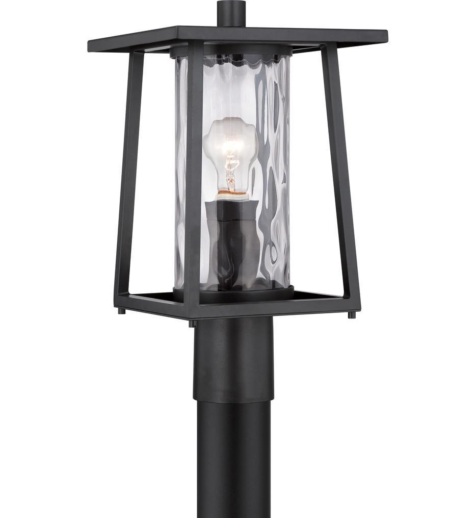 Quoizel - Lodge Mystic Black 9.5 Inch Outdoor Post Light