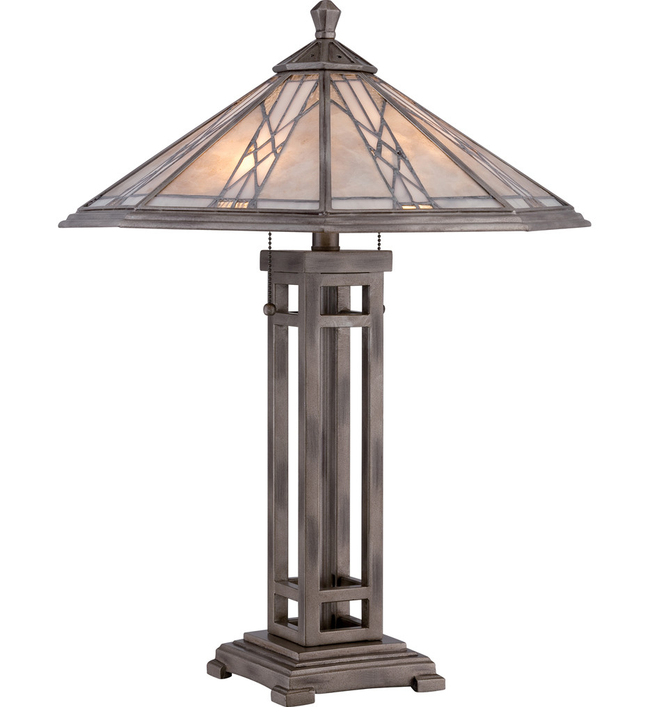 Quoizel - MCCS6326AS - Cyrus Anniversary Silver 25.5 Inch Table Lamp