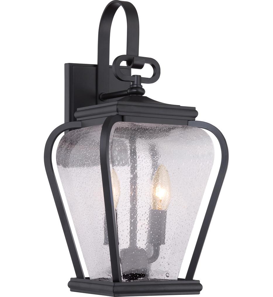 Quoizel - PRV8408K - Province Mystic Black 8.5 Inch Outdoor Wall Lantern