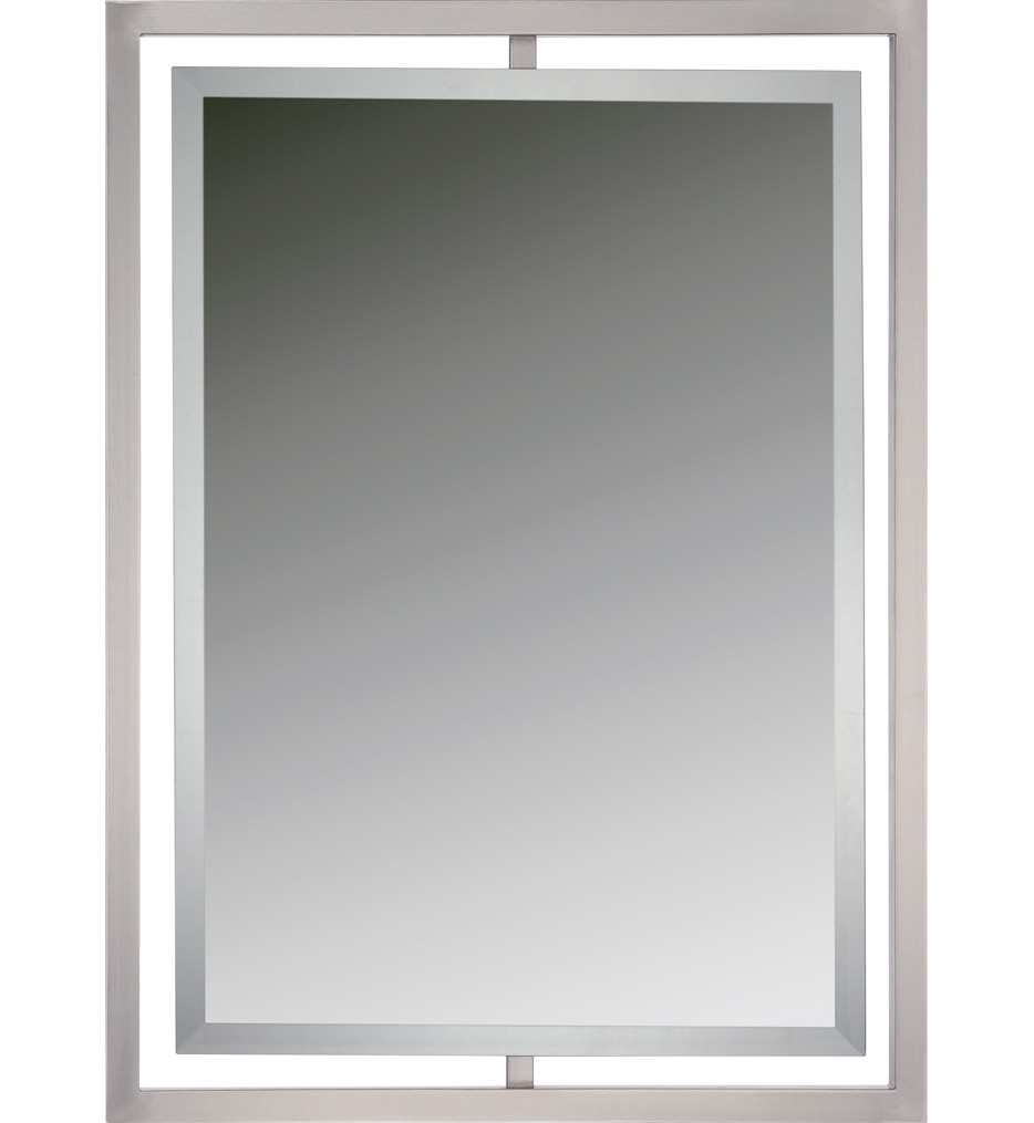 Quoizel - QR1857BN - Quoizel Reflections Brushed Nickel 24 Inch Mirror
