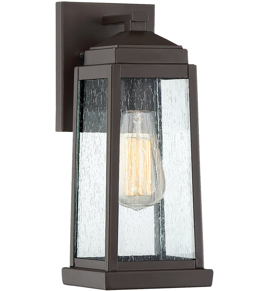 Quoizel - RNL8405WT - Ravenel Western Bronze 12.5 Inch Outdoor Wall Lantern