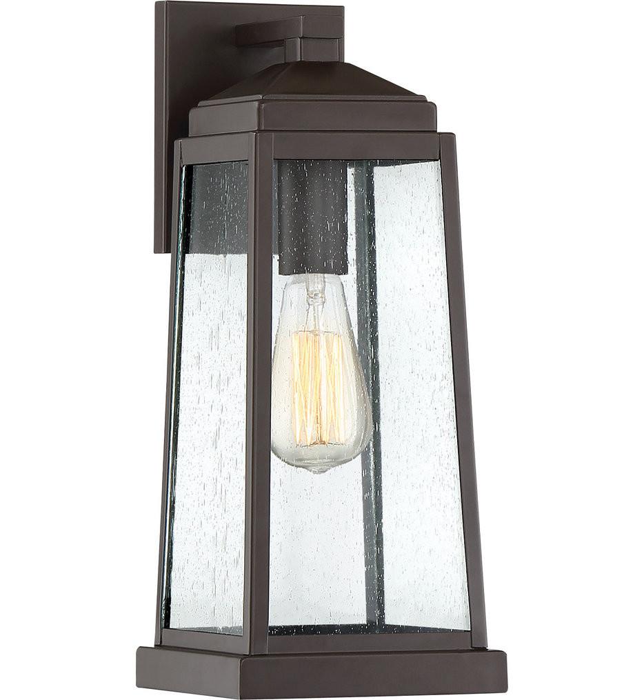Quoizel - RNL8407WT - Ravenel Western Bronze 15.75 Inch Outdoor Wall Lantern