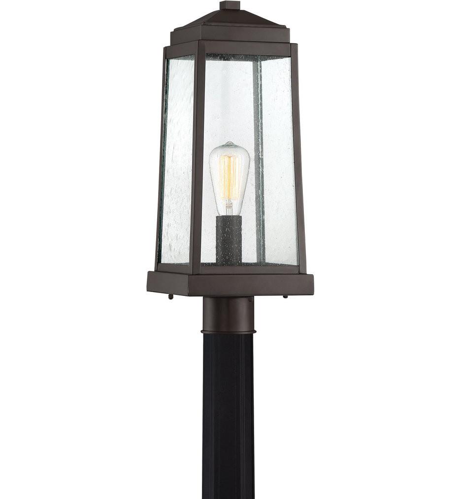 Quoizel - RNL9008WT - Ravenel Western Bronze Outdoor Post Lantern