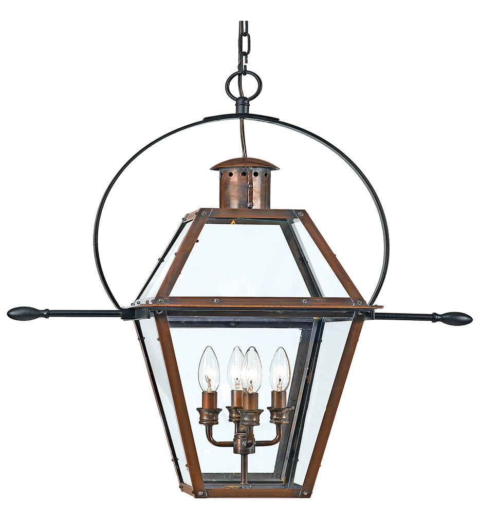 Quoizel - RO1914AC - Rue De Royal Aged Copper Outdoor Hanging Lantern