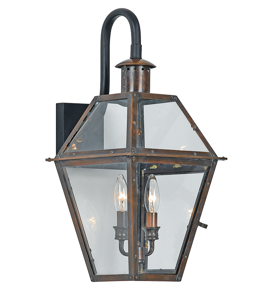 Quoizel - RO8411AC - Rue De Royal Aged Copper Outdoor Wall Lantern