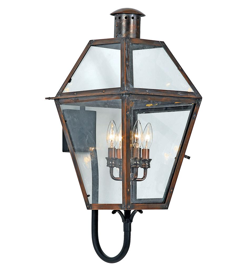 Quoizel - RO8414AC - Rue De Royal Aged Copper Outdoor Wall Lantern