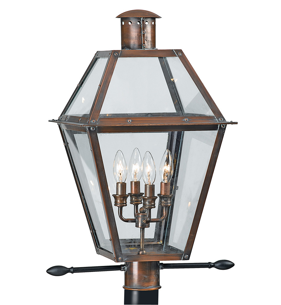 Quoizel - RO9014AC - Rue De Royal Aged Copper Outdoor Post Light