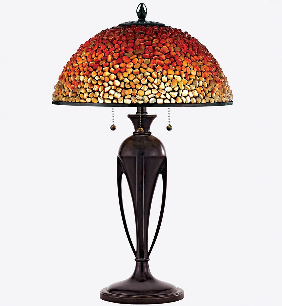 Quoizel - TF135TBC - Pomez Burnt Cinnamon Table Lamp