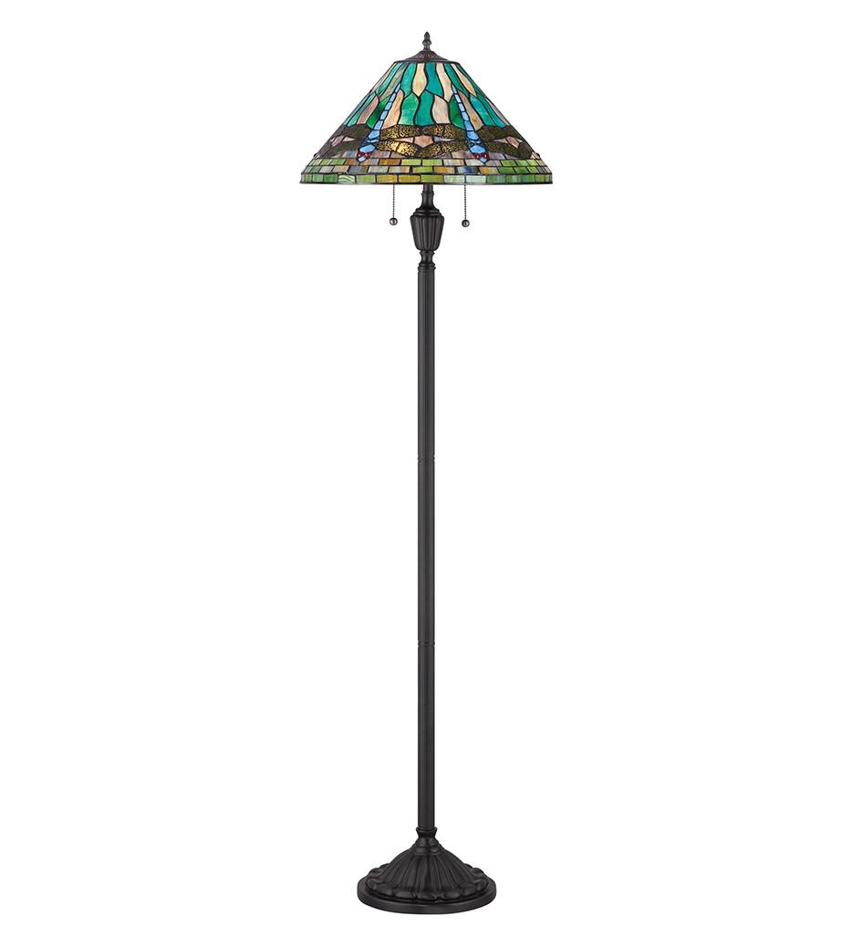 Quoizel - TF1508FVB - Tiffany Vintage Bronze Floor Lamp