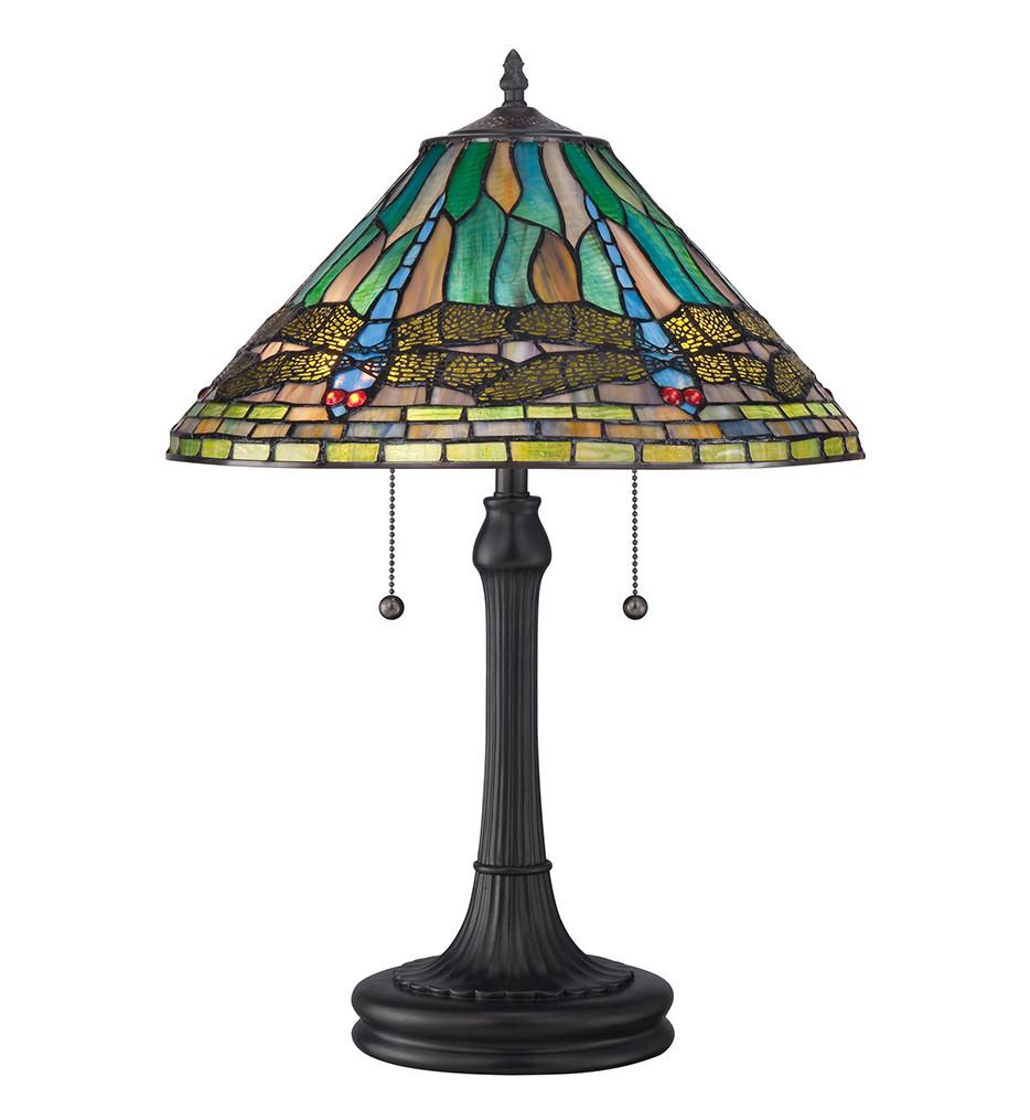 Quoizel - TF1508TVB - Tiffany Vintage Bronze Table Lamp