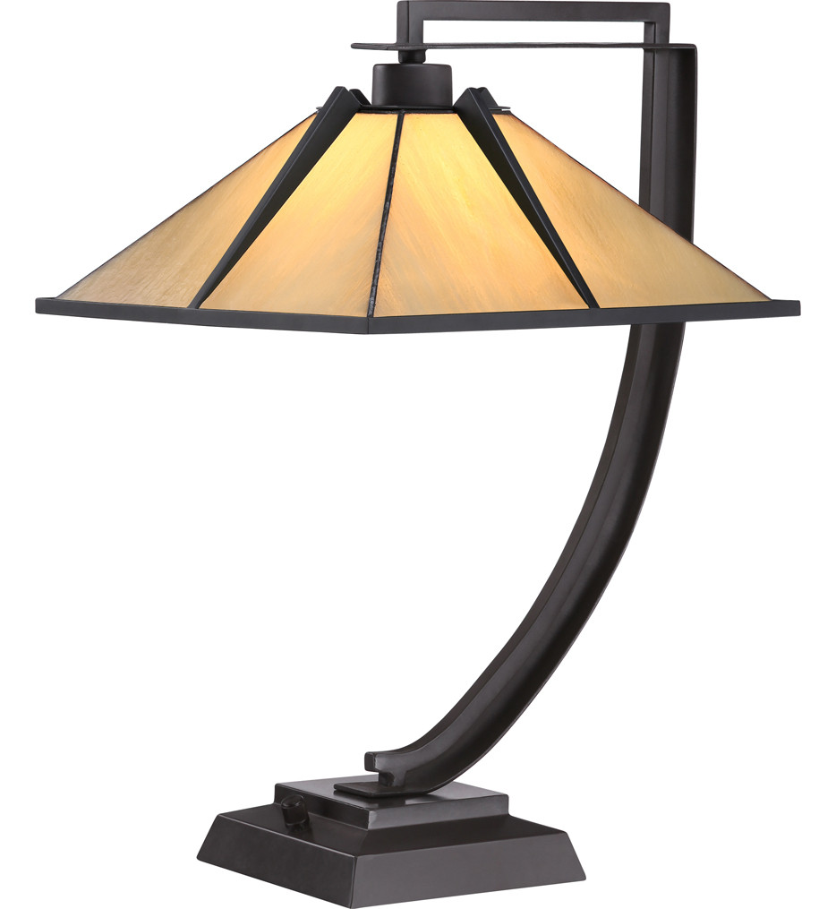 Quoizel - TF1791TWT - Tiffany Western Bronze 21 Inch Table Lamp