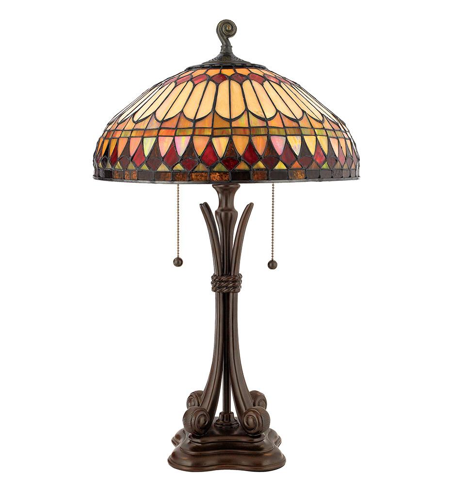 Quoizel - TF6660BB - Tiffany Brushed Bullion Table Lamp