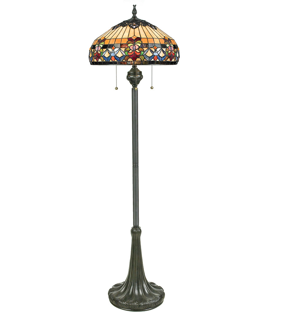 Quoizel - TFBF9362VB - Belle Fleur Vintage Bronze Floor Lamp