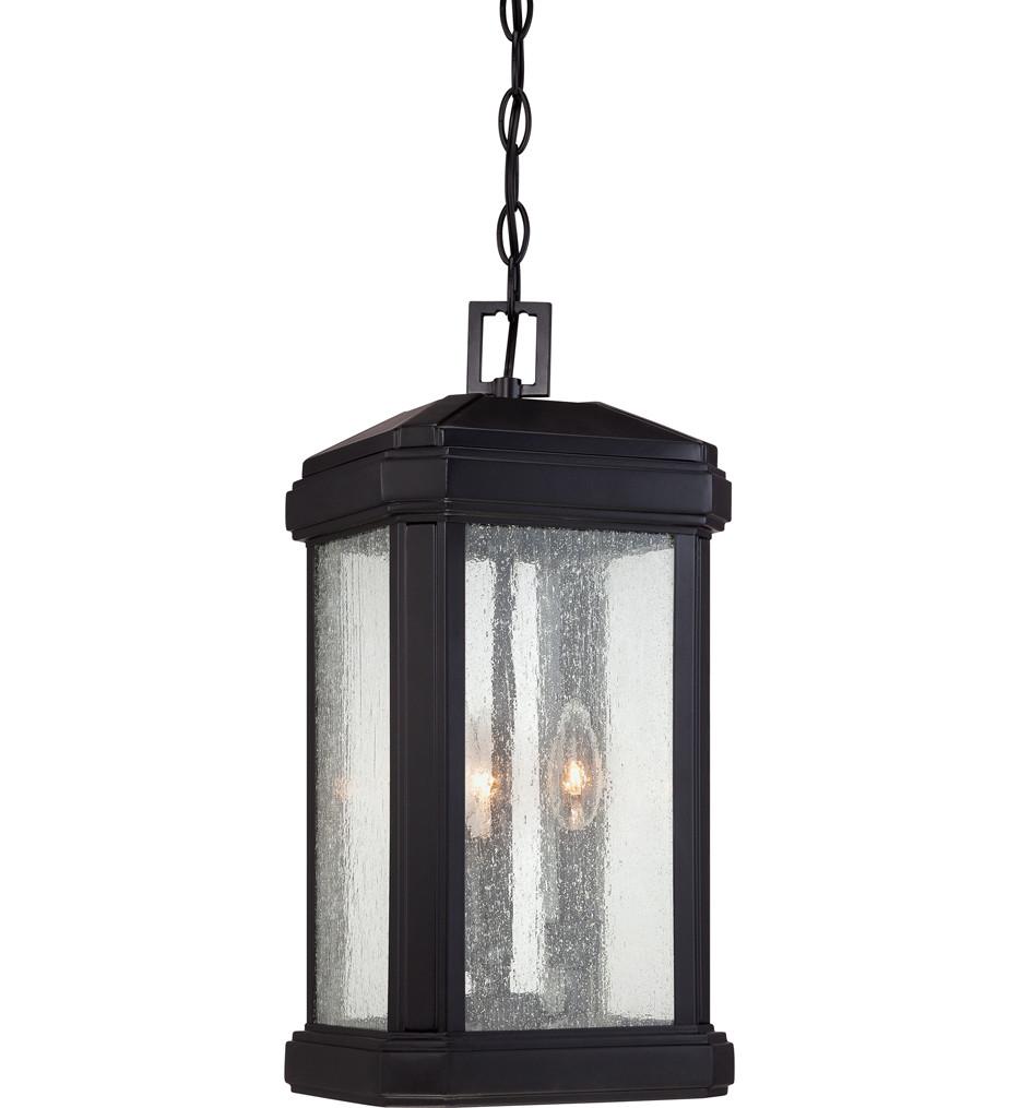 Quoizel - TML1908K - Trumbull Mystic Black 8.5 Inch Outdoor Hanging Lantern